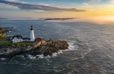 Portland Head Light Drone Photo
