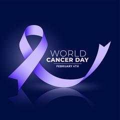 world cancer day ribbon concept banner design
