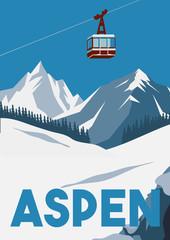 Fototapeta Aspen Colorado Vector Illustration Background obraz