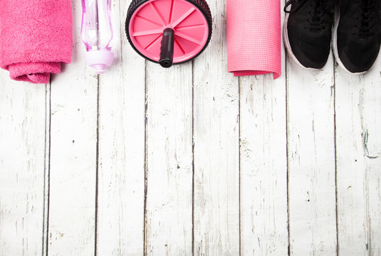 Exercise equipment and negative space