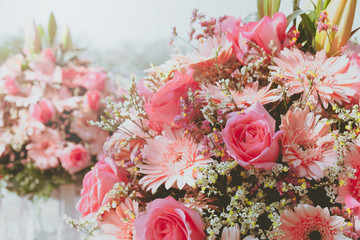 Wall Mural - Flowers bouquet in wedding day