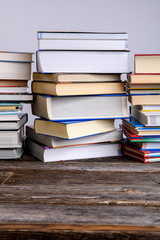 piles of different books