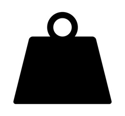 Metal weight of heavy mass flat vector icon for apps and websites
