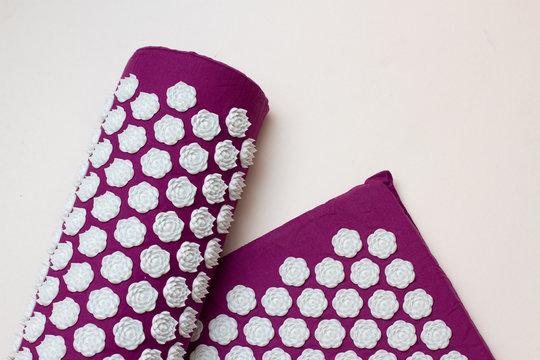 Acupressure mat and pillow for massage, alternative medicine