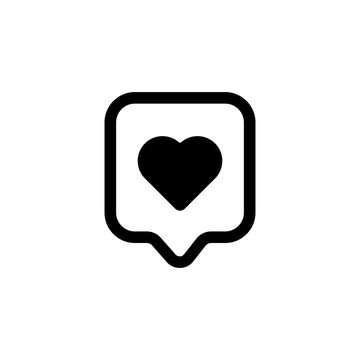 Love Heart vector icon, logo, symbol, illustration vector template. Love Flat style for graphic, social media and web design. love icon for Live stream video, chat, likes on Social media.