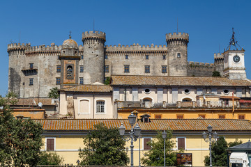 BRACCIANO / ITALY - JULY 2015: View to medieval castle of Bracciano, Italy