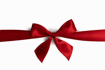 Wall Mural - Red bow isolated on white