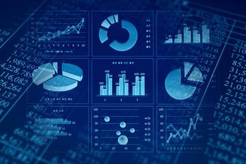 ビジネスコンセプト ファイナンシャルグラフ