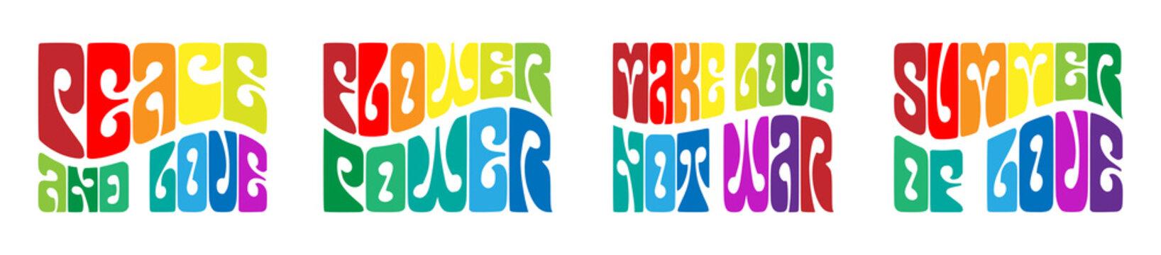 Beat generation slogans typography on white background