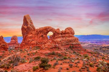 Arches National Park Sunrise Landscape