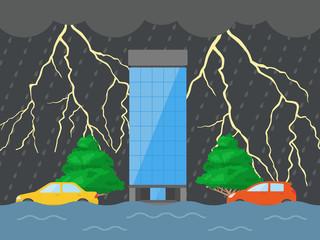 雷雨のイラスト
