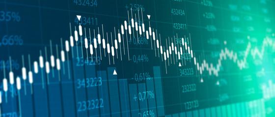 Obraz tabellone, grafico, economia, finanza, azioni, mercato - fototapety do salonu