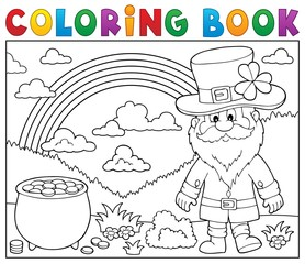 Autocollant pour porte Enfants Coloring book St Patricks Day theme 3