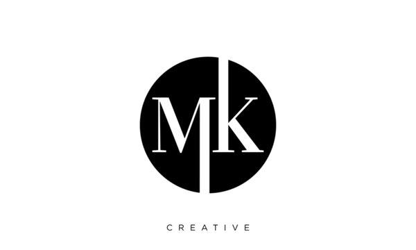 mk logo design vector luxury premium icon