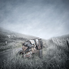 Abandoned Tractor Wreck