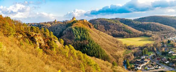 Foto auf AluDibond Honig Das Rurtal bei Burg Nideggen
