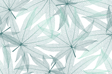 Seamless pattern with cannabis leaves veins. Vector illustration.