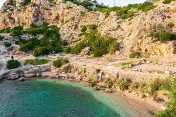 Ancient place Hraion Paradise Beach - Greece