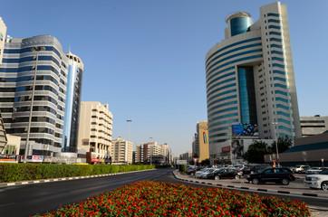 Modern buildings at Union Square on November 26, 2014 in Dubai, UAE
