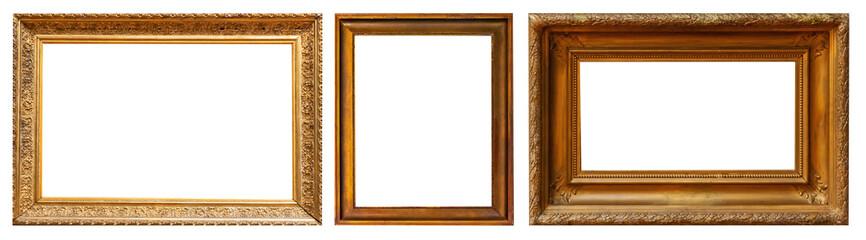 Gold retro antique picture frames Papier Peint