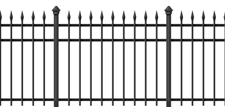 Illustration of metal forged fence.