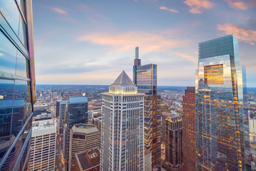 Fotomurales - Top view of downtown skyline Philadelphia in Pennsylvania, USA