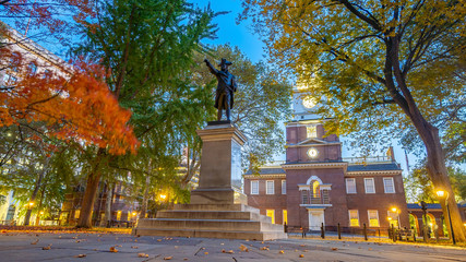 Wall Mural - Independence Hall in Philadelphia,  USA