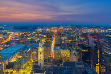 Fototapete - Top view of downtown skyline Philadelphia in Pennsylvania, USA