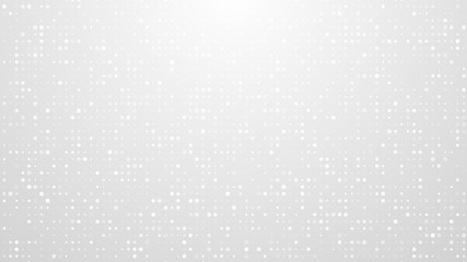 Dot white gray pattern gradient texture background. Abstract  technology big data digital background. 3d rendering. Wall mural
