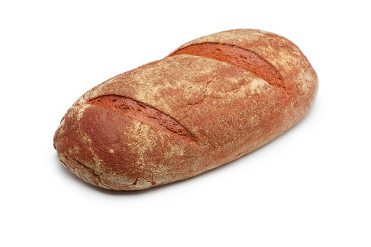 a fresh bread isolated on white background