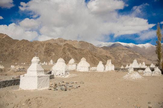 Buddhist chortens in Ladakh, India