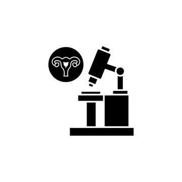 Microscope uterine, analysis icon. Simple gynaecology icons for ui and ux, website or mobile application