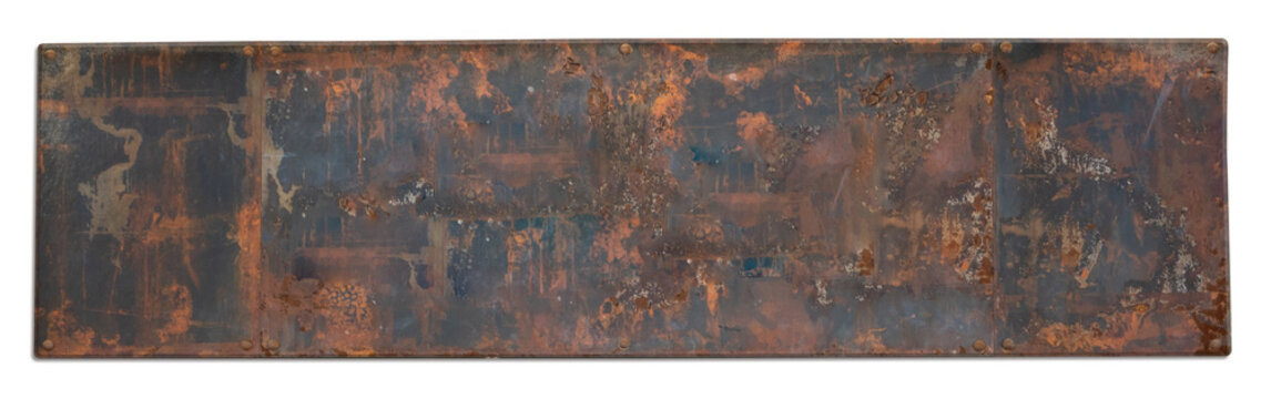 Old Rusty Grunge Metal Sign Plate