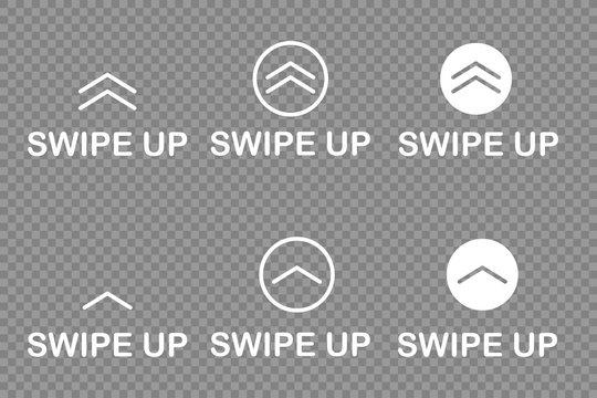 swipe up icon isolated white background vector