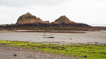 Breast-like rocks in St Clement Bay