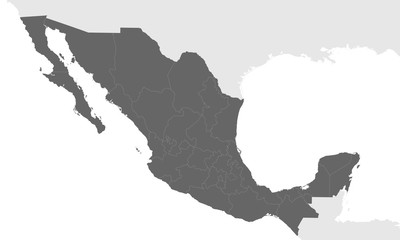 Wall Mural - Mexico vector map. Correct forms and proportions of the country.
