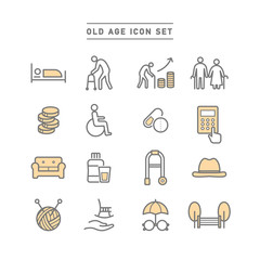 OLD AGE ICON SET