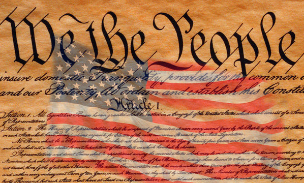 """US Constitution emphasizes """"We the People"""" in digital Americana composite"""