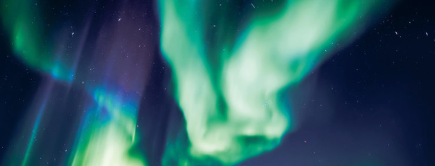 light green northern aurora over Iceland lights and swirls in the sky the Northern lights magnificent phenomenon
