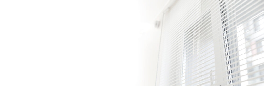 Window jalousie at modern apartment
