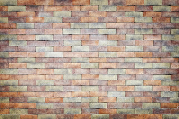 colorful brick wall texture background