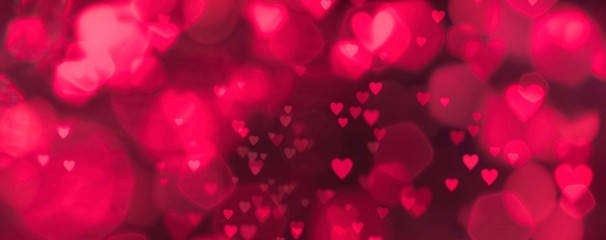 Fototapete - Abstract colorful pink background with hearts - concept Mother's Day, Valentine's Day, Birthday