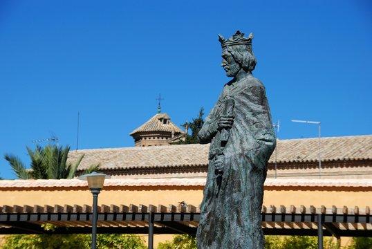 Statue of Fernando III El Santo in the old town, Baeza, Spain.