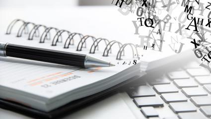 agenda, penna, prendere appunti
