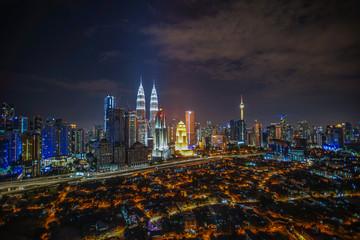 Papiers peints Kuala Lumpur Kuala Lumpur city night view.