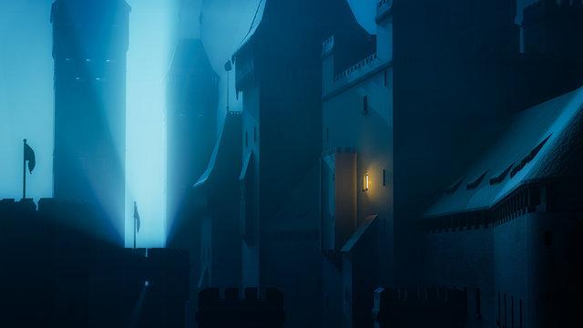 Dark Castle at Night