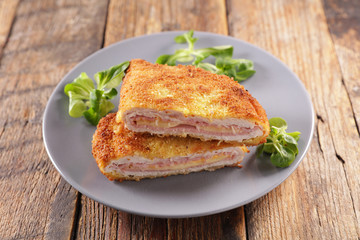 cordon bleu- chicken fillet with ham and cheese