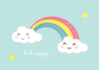 sfondo carino arcobaleno