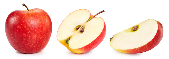 Papiers peints Jus, Sirop Red apple collection. Apple with Clipping Path isolated on a white background
