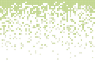 Fading pixel pattern background. Green and white pixel background. Vector illustration. Wall mural